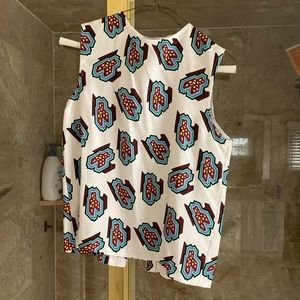 NWT JW Anderson Silk Blouse Abstract Sz 8
